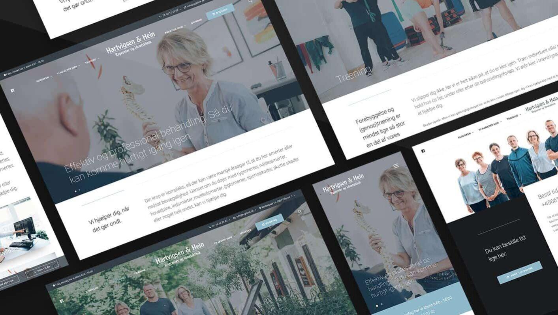 Lækkert webdesign til kiropraktor Hartvigsen & Hein - rygklinik i Odense