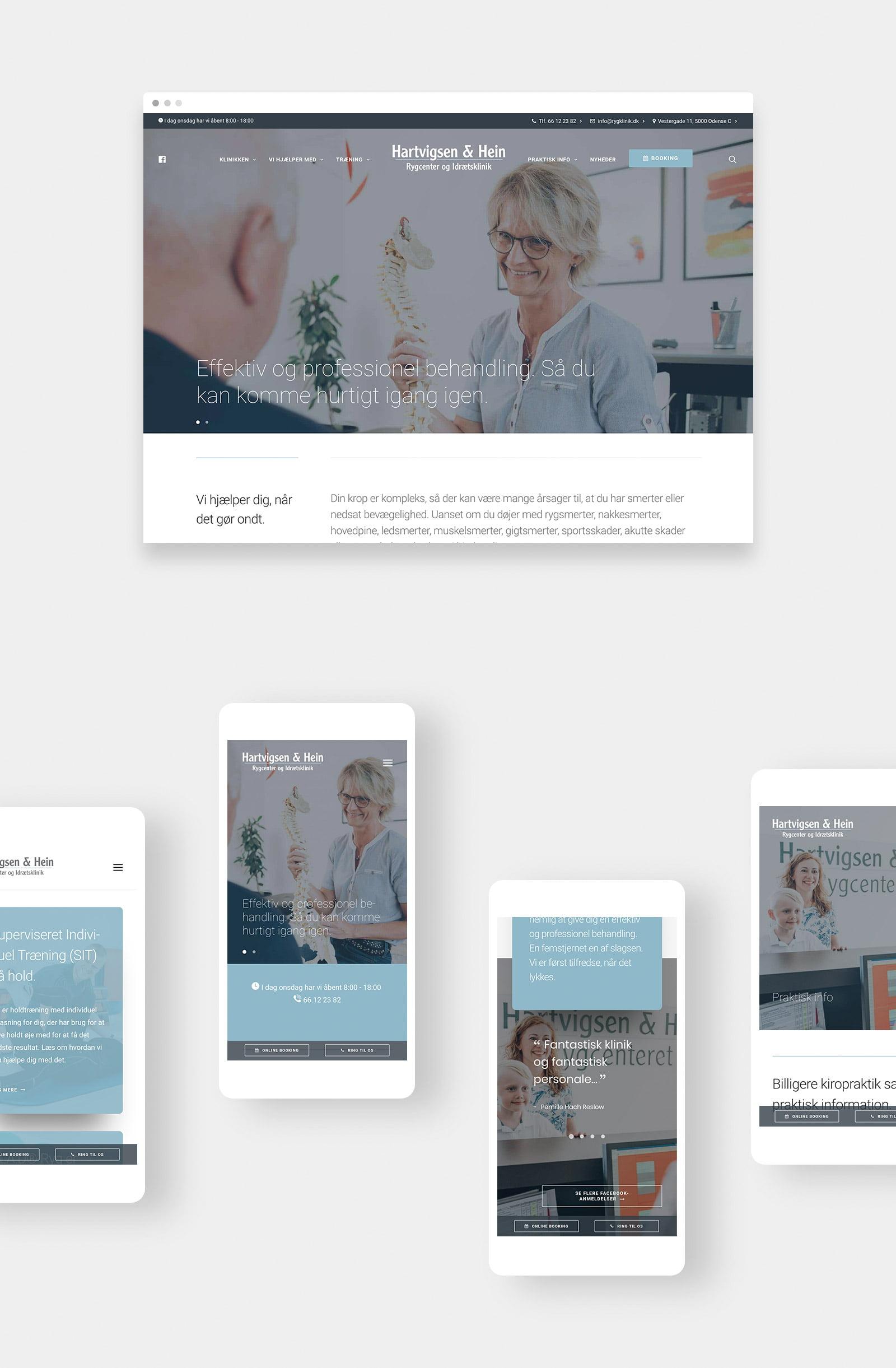 hjemmesidedesign og webdesign for kiropraktor, fysioterapeut Odense
