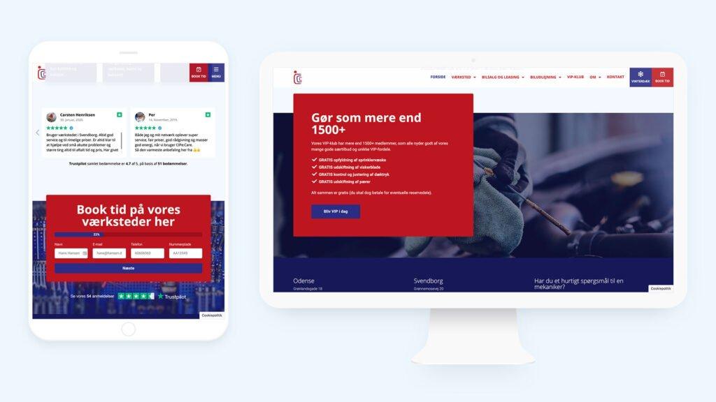 Cipecare webdesign for autoværksted