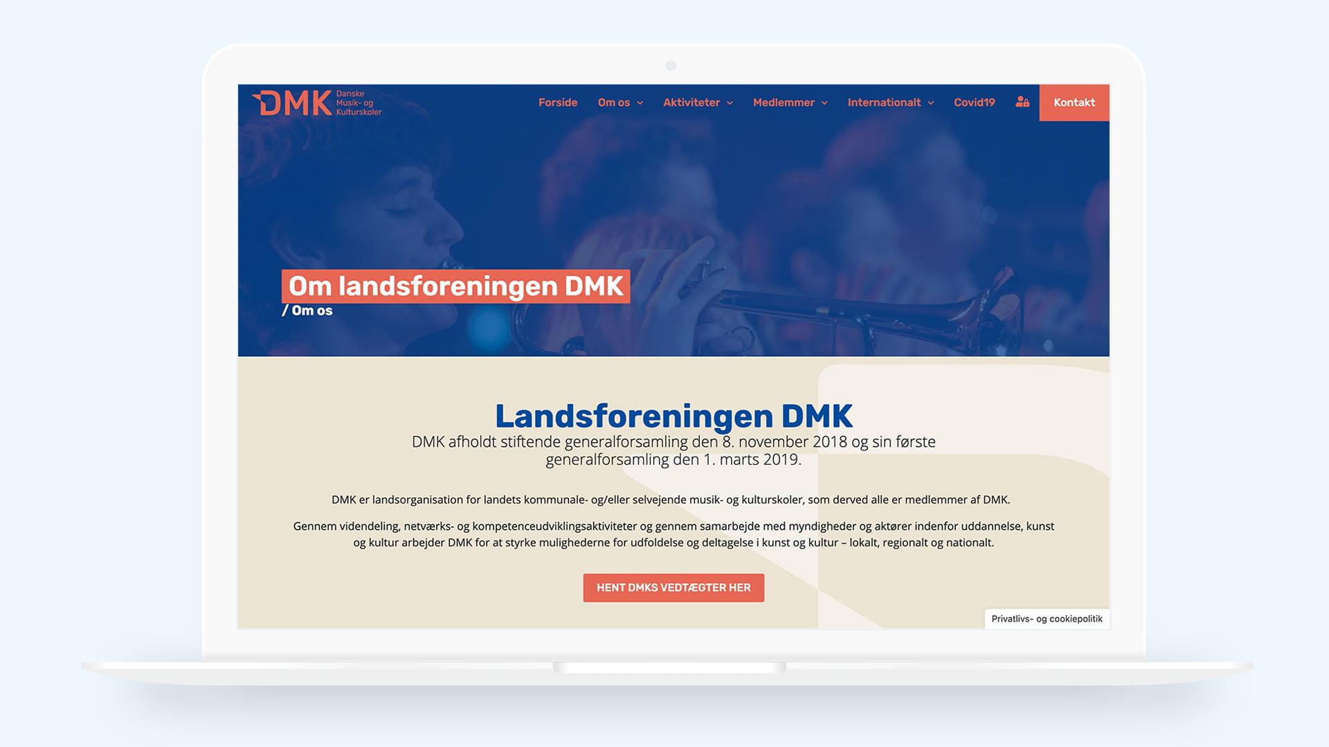 Webdesign til DMKskoler